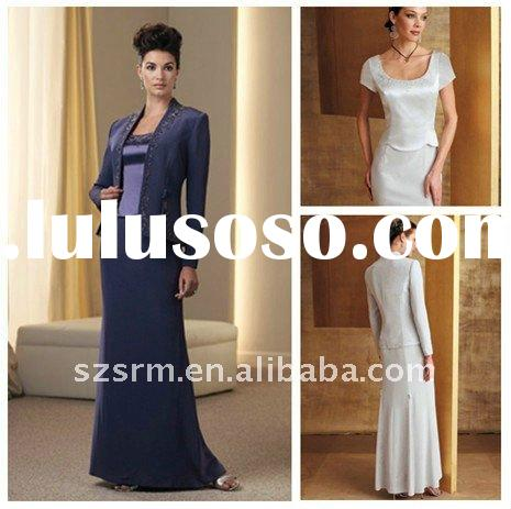 ZWX-0014 hot sale long sleeve mother of the bride evening dress