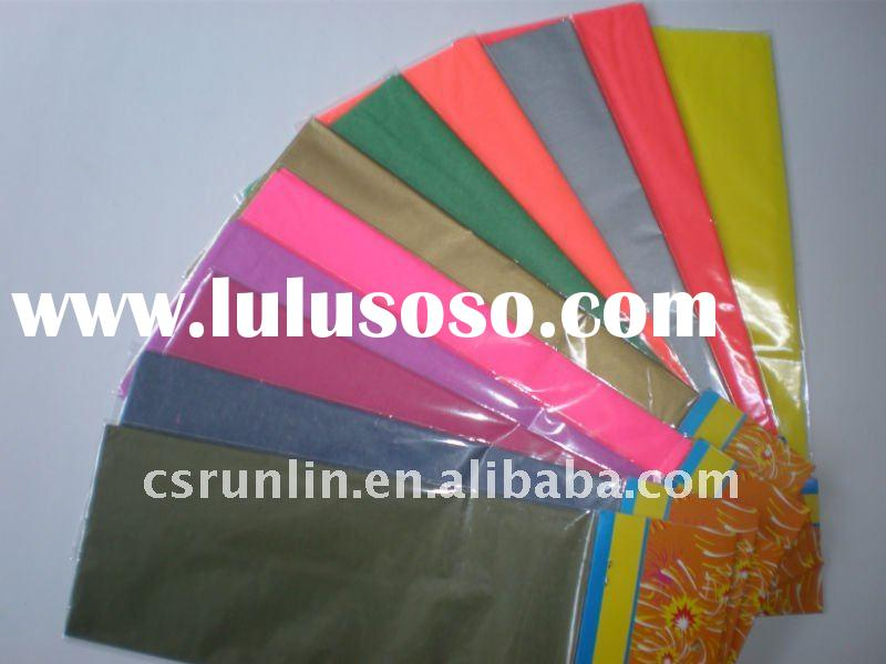 colored thin decorative tissue paper sheet