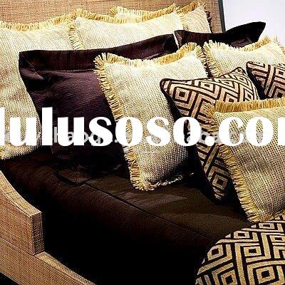 linen sofa cushion cover with fringe(OYHGC039)