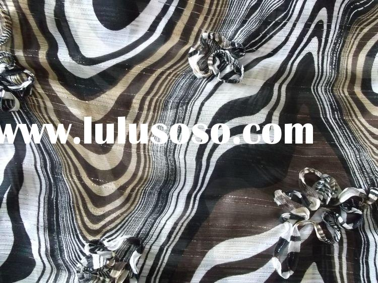 polyester chiffon fabric with embroidery design