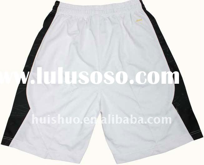 polyester white plain men shorts