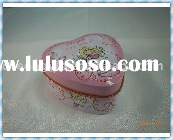 valentine tin box heart shaped candy metal sweet box
