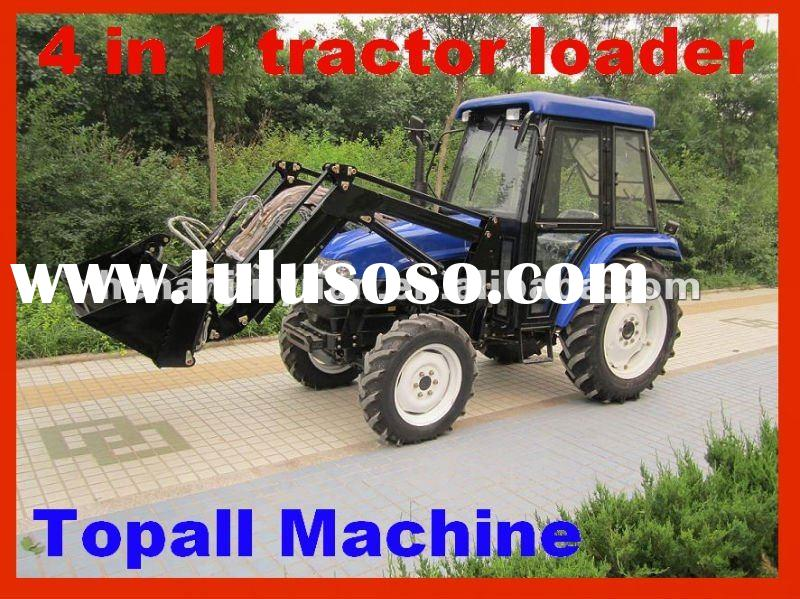 "2012 Hot Sale Mini Tractor With ""4 in 1"" Front end loader and Cabin"