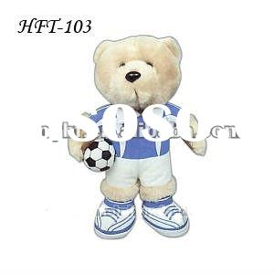 "2012 high quality 8"" soccer bear plush stuffed toys"