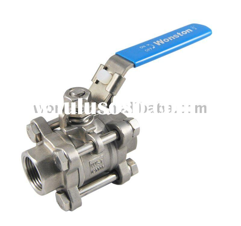 """3-PC Manual Stainless Steel Ball Valve Threaded end 6"""""""