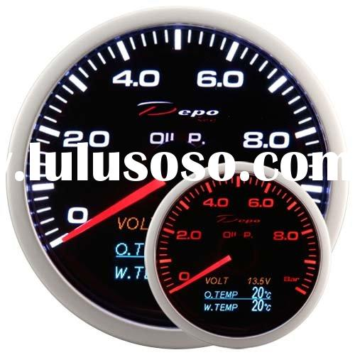 60mm 4 in 1 Oil Pressure, Volt, Oil Temp , Water Temp Auto Racing Gauge