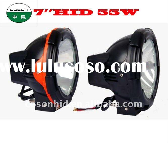 "7"" 55w hid off road light ,hid spot light, hid xenon work light ,hid xenon drinving light hid o"