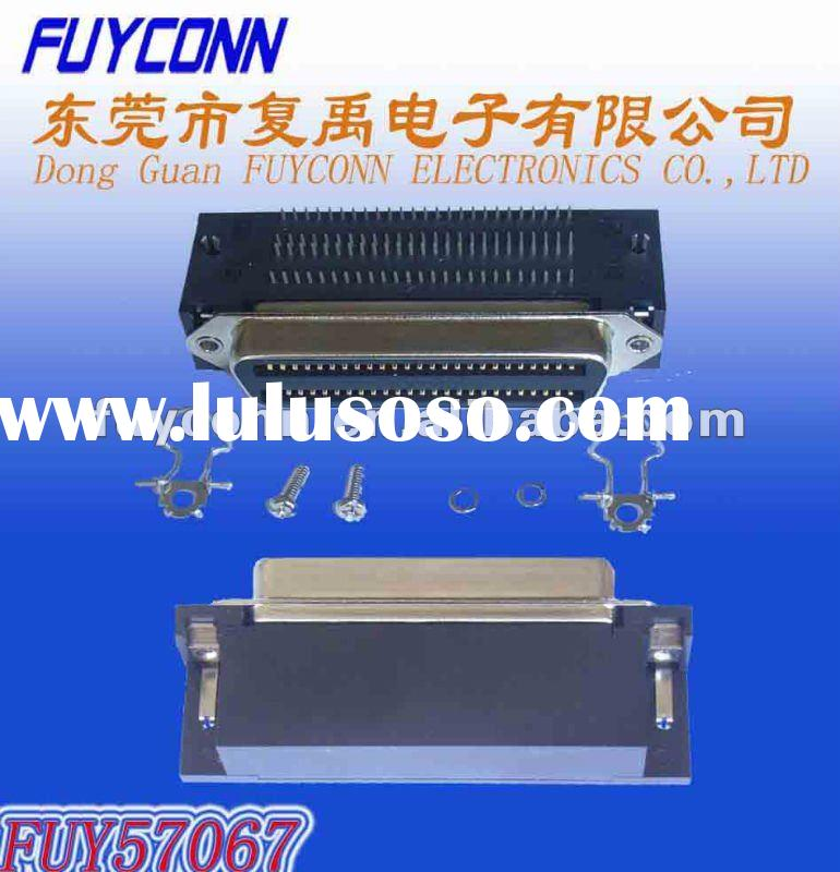 Amphenol 957 100 PIN CHAMP Female Centronic Connector PCB DIP Right Angle Type Certificated ULE34617