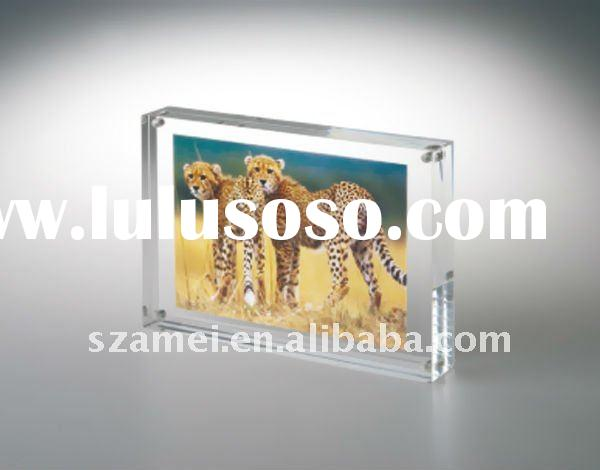 "Best-Selling bespoke 4*6"" magnet acrylic photo frame"