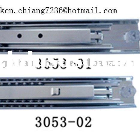 Foshan professional manufacturer 53mm 3-fold #3053 full extension telescopic heavy duty ball bearing