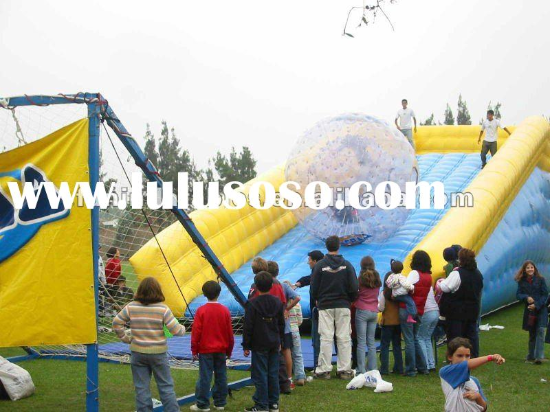 Inflatable zorb ball with zorb ramp/ zorb ramp