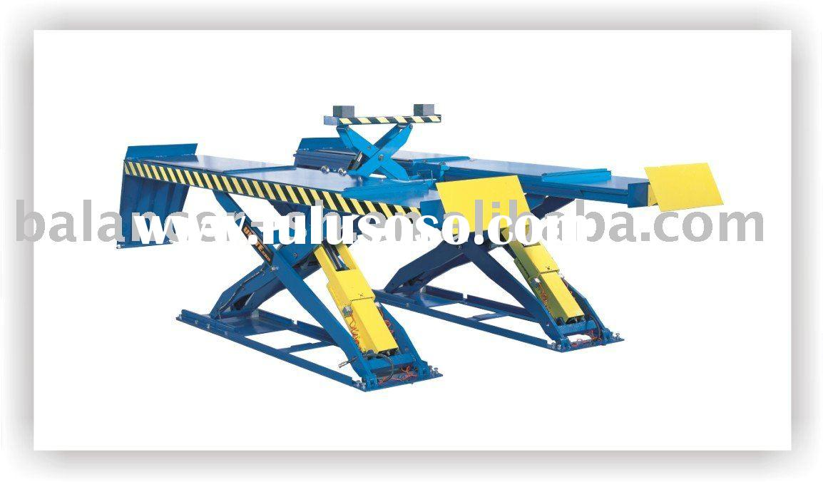 Large platform profile scissor car lift for four wheel alignment of U-D35B