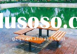 Outdoor wooden table and bench seat QX-11136A
