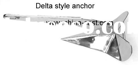 Stainless Steel Delta Style Anchor 4KG,Hot Dipped Delta Style Anchor 9lbs