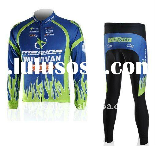 Team Merida long sleeve cycling wear,bicycle suit,bike gear