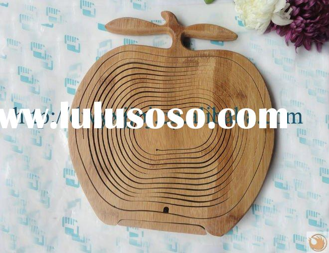apple shape bamboo fruit baskets