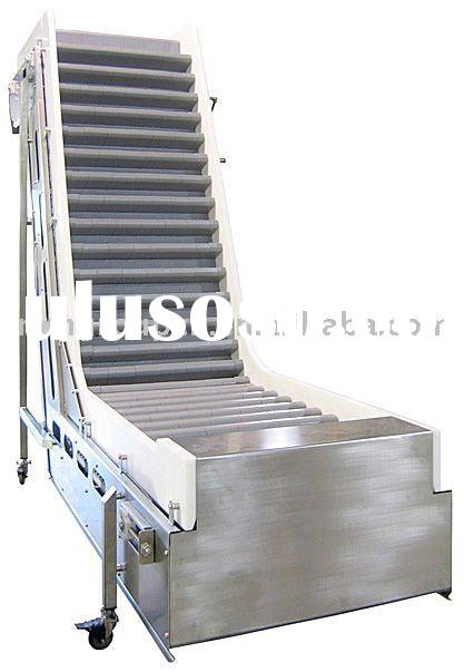 food grade stainless steel inclining belt conveyor system