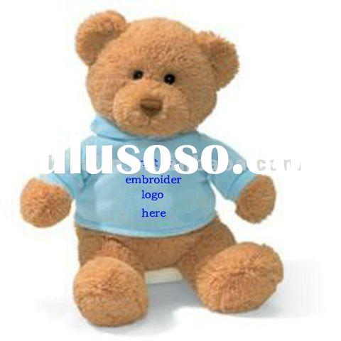 stuffed and plush teddy bear with t-shirt