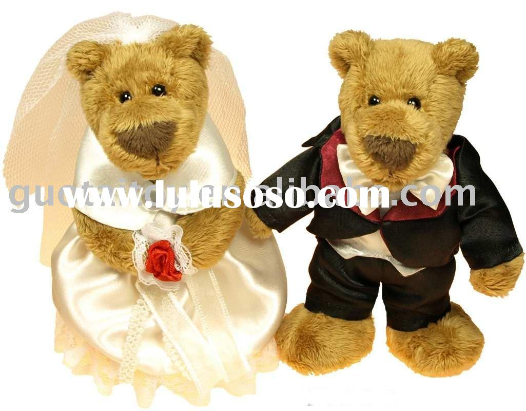 wedding teddy bear/couple teddy bear/plush teddy bear