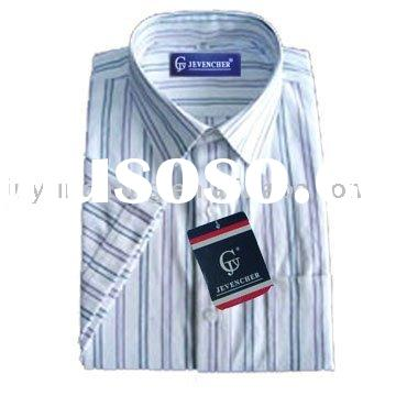 100% cotton short sleeve casual shirt for man
