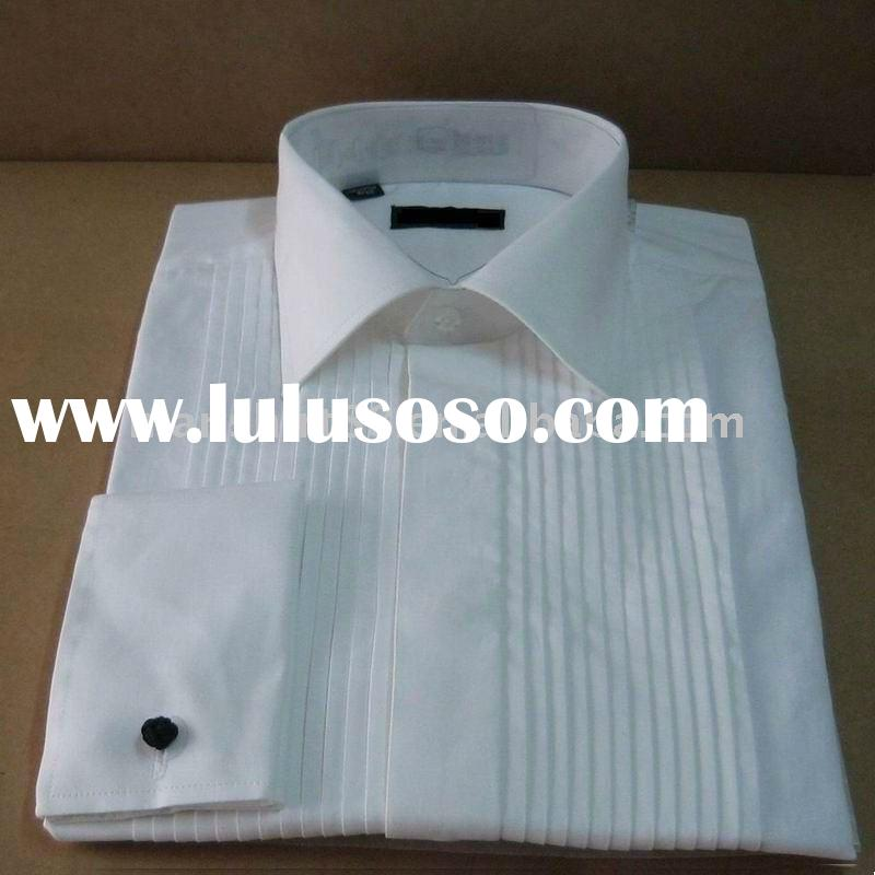 100%cotton white european spread collar formalwear tuxedos