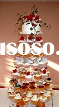 10 tiers colorful cupcake display cake stand