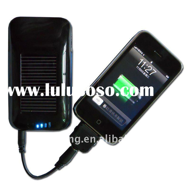 1800 mAh solar battery charging case for iphone 4s, solar battery case for iphone 4s