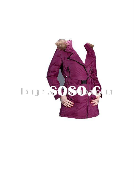 2011 hot sale nice women/lady winter down coat with fur