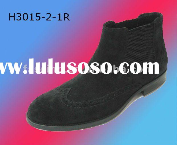 2012 man leather shoe with genuine leather upper and pigskin lining