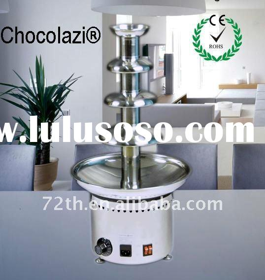 4 tiers high grade commercial stainless steel battery chocolate fountain
