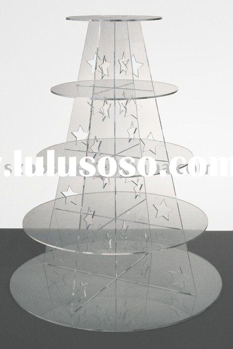 Acrylic Cupcake Stand,5-Tier Cupcake Holder,Acrylic Display Stand