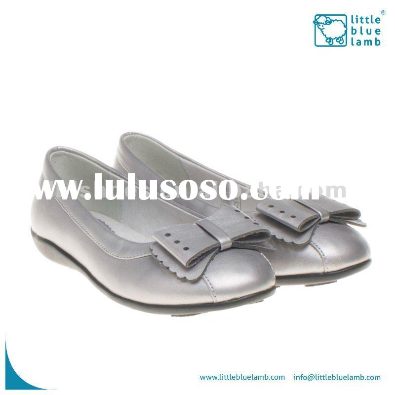 Children shoe, kids beautiful shoes silvery AB-A91003-SL