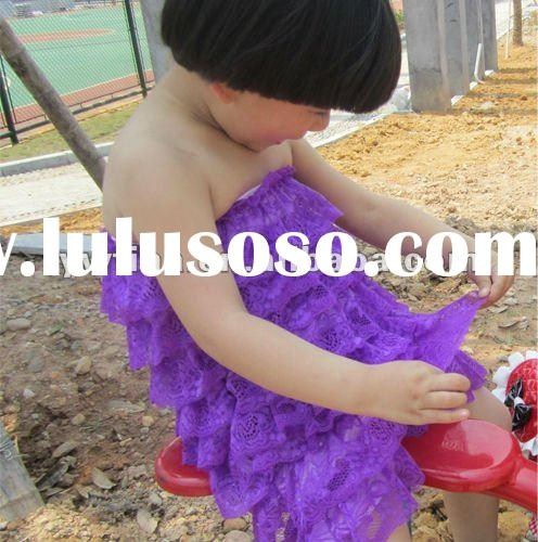 Fashion! Lovely Purple Lace Petti Rompers