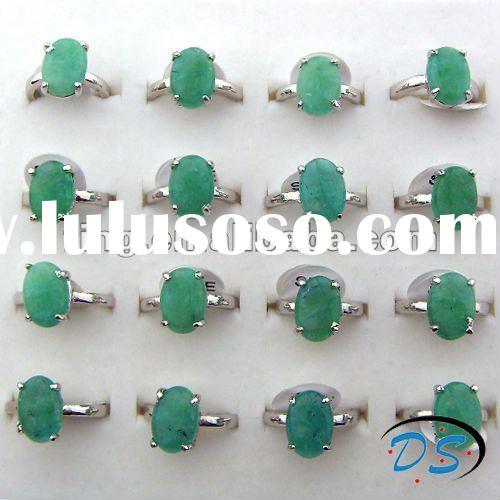 Lab Malay Jade Green Stone Rings