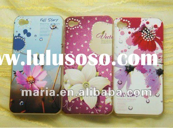 New Bling Diamond Crystal Case for iPhone 4S 4G .Flowers case