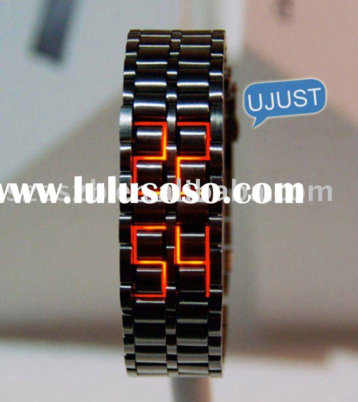 New Lava Iron Samurai Metal LED Faceless Bracelet Watch