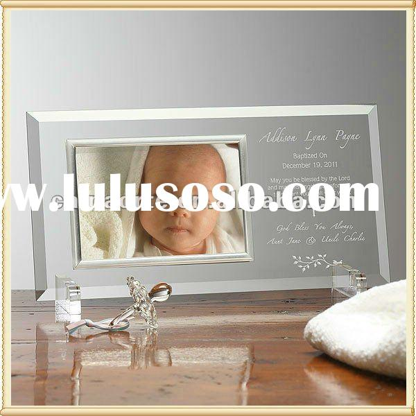 Optical Crycal Gift Crystal Picture Frame For Baby