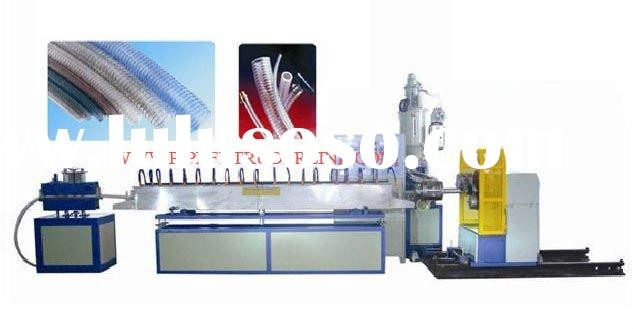 PVC spiral steel wire reinforced pipe making machine