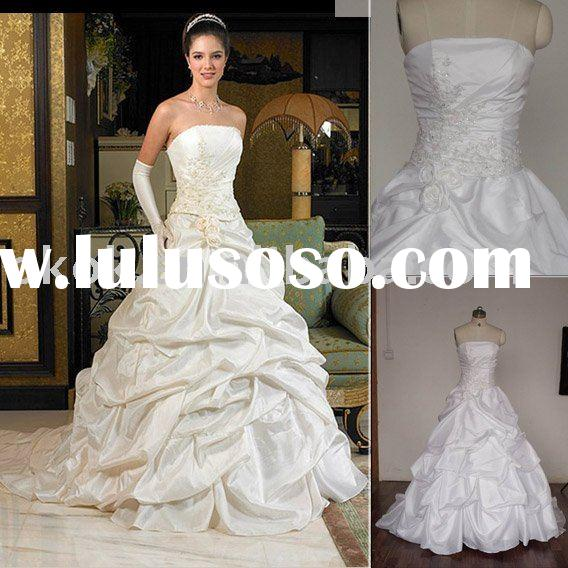 Pick -up skirt ball gown supper hot discounted bridal wedding dress