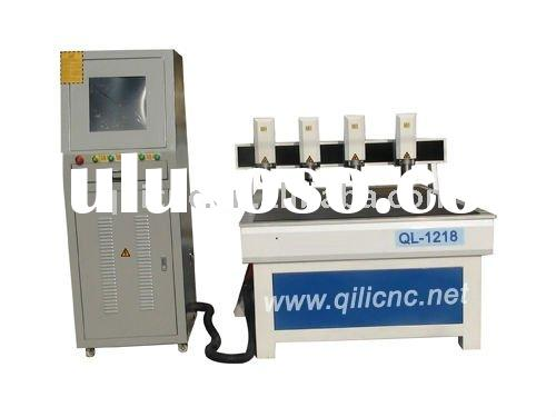 QL-1218 Four axis cnc router engraver for making wood furniture