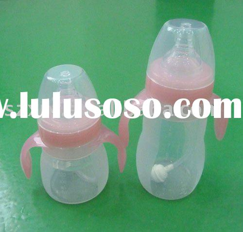 Silicone baby feeding bottle BPA free