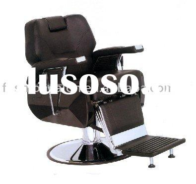 black reclining barber chair