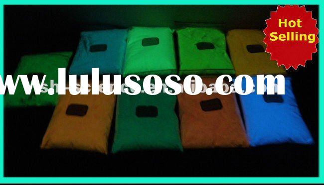 glow in dark powder(photoluminescent pigment,color:yellow, green, blue, purple, etc.,high quality,co