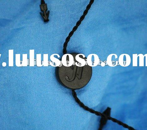 round black plastic seal tag for garment,watch