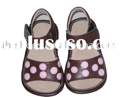 squeaky shoes pink dotted