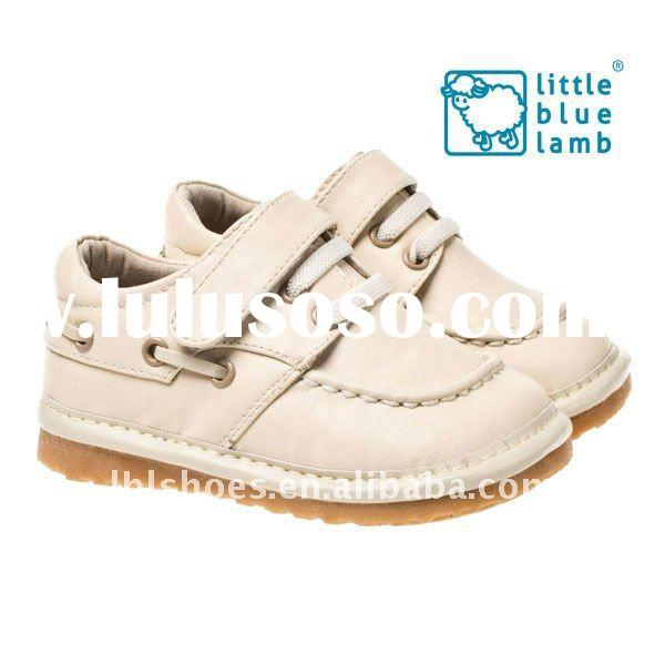 super quality leather rubber kids shoes SQ-S11113CR
