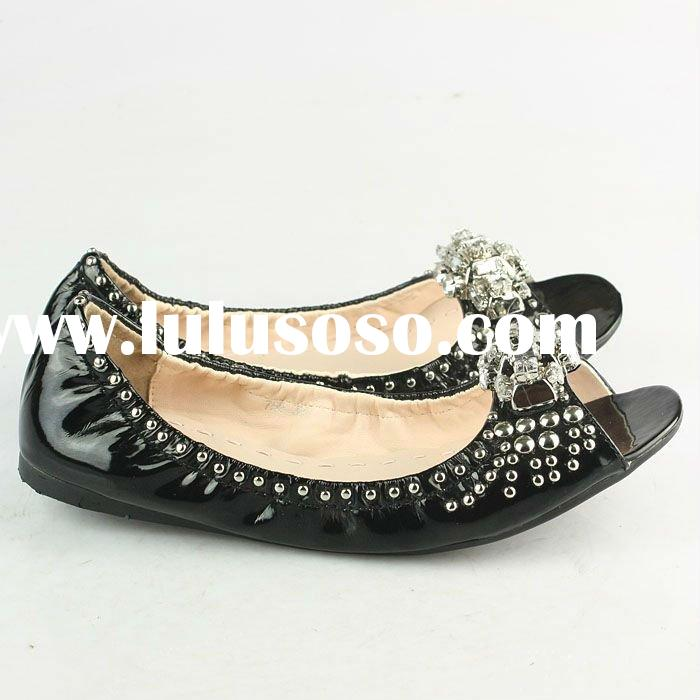 wholesale paypal Cheap branded designer flat women slip-on leather sandals shoes