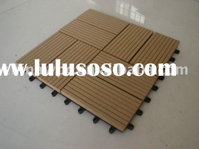 Diy decking wood plastic composite wpc interlocking deck for Timber decking for sale
