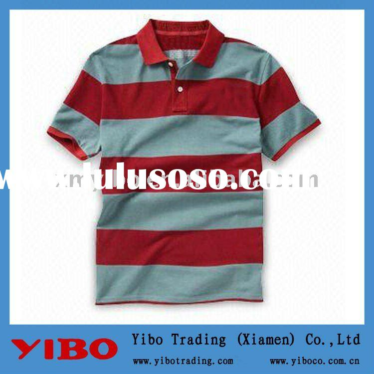 yarn dyed striped Men Polo shirts