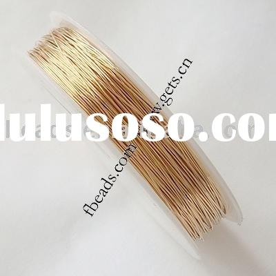 14K Gold plating copper wire,0.4mm